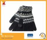 겨울 온난한 아크릴 겨울에 의하여 뜨개질을 하는 장갑