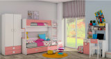 Design popular Crianças coloridas Kids Bedroom Furniture Bunk Bed (GAUSS)