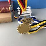 Изготовленный на заказ медаль пожалования плакировкой золота металла