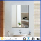 Rectangle d'aluminium led biseauté miroir mural miroir d'orthographe