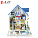 가구를 가진 수수께끼 DIY 집 나무로 되는 장난감