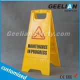 Пластичная безопасность знак предупреждающей надписи доски формы предупреждающий
