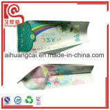 Bolso plástico de aluminio de empaquetado de la hoja del tejido lateral del escudete