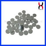 Recubierto de níquel de neodimio permanente imán círculo