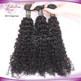 8A Virgem Virgem Curly Indian Remy Hair Weave