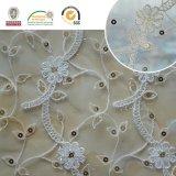 Tela coreana del cordón de la materia textil de la flor hermosa del producto del cordón para la alineada de boda