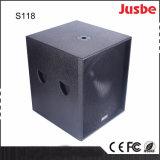 Фабрика оптовое S118 1200W определяет коробку диктора Subwoofer 18 дюймов ПРОФЕССИОНАЛЬНУЮ