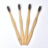 Soies de charbon de bois naturel organique biodégradable adulte brosse à dents de bambou