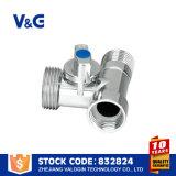 Полируя Chromed латунный угловой вентиль (VG-E12061)