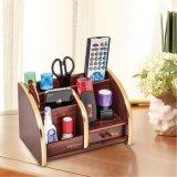 Supporto multifunzionale di legno di memoria per la casa e l'ufficio con il cassetto