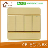 Universal Standard Dedicado Aluminium Four Gang Wall Switch