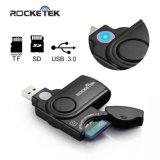 Rocketek 11 en 1 USB 3.0 Lecteur / enregistreur de carte mémoire avec un cache de la carte build-in et 2 emplacements avec la CE