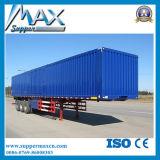 고품질 세 배 차축 화물 상자 트럭 트레일러 또는 밴 Semi Trailer