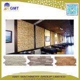 PVC vinilos decorativos de pared de patrón de piedra del panel de revestimiento de la línea de producción