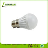 Bombilla barata del plástico LED del precio B22 3W