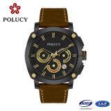 Horloges van Mens van het Leer van het Horloge van de Vezel van de Koolstof van de Mensen van de luxe de Echte