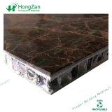 石造りの上のダイニングテーブル、表のための大理石の蜜蜂の巣のパネル