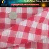Il poliestere/filato di nylon ha tinto il tessuto dell'assegno della piega per il Beachwear del capretto (YD1122-RED)
