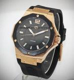 Hombre de deporte personalizados de lujo reloj de pulsera con movimiento suizo