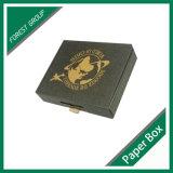 Caixa de transporte de papel preta ondulada Certificated Fsc
