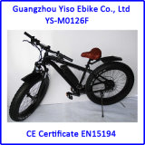Тучный электрический велосипед с автошиной сала оправы 4.0 колеса 26inch