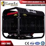 générateur silencieux portatif d'essence de 3.5kVA 3kw avec les roues et le traitement