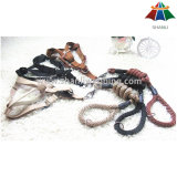 Hot-Sale de haute qualité de couleur Pearly-Lust 10mm Polyester / Nylon Leash & 15mm Harness réglable