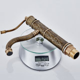 Flg Antique Brass Basin Faucet Sink Mixer Single Handle