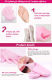 온천장 피부 관리, 반대로 건조한과 희게하는 떨어지게 하기를 위한 고정되는 젤 장갑 그리고 젤 양말