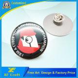 Pin de epoxy de encargo 100% de la solapa del metal del acero inoxidable del precio de fábrica con el embrague de lujo (XF-BG36)