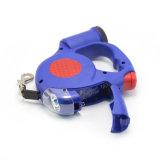Correa de perro retráctil Pet linterna LED Dispensador de bolsas para residuos