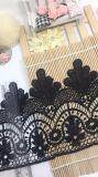 Merletto di nylon di immaginazione della guarnizione del ricamo del poliestere del merletto del commercio all'ingrosso 17cm della fabbrica del ricamo di riserva di larghezza per l'accessorio degli indumenti & la decorazione domestica delle tende & delle tessile