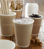さざ波か波形の習慣によって印刷されるコーヒー紙コップ