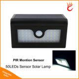 Indicatore luminoso solare del sensore di movimento dei 50 LED per il giardino fissato al muro