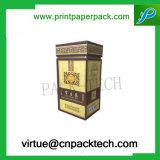 Caja de cartón de empaquetado modificada para requisitos particulares rígida del regalo del té de la vendimia