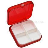 Petit conteneur de pillule de cadre de pillule de 4 compartiments