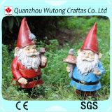 Figurine ao ar livre de Papai Noel da resina da decoração do jardim do Natal