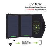 5V 10W carregador solar dobrável carregador de painel solar portátil ao ar livre