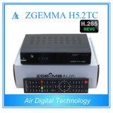 2017 DVB os mais novos - S2 + 2 * satélite + cabo de DVB C/T2 + Multi-Córrego terrestre H. 265 Zgemma H5.2tc da sustentação do receptor da tevê