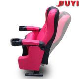 Empresa Juyi Precio Razonable cubierta de cuero Muebles comerciales hasta la punta del brazo de plástico acolchado Portavasos silla plegable