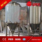 Tanque de fermentação Jacketed cónico do aço inoxidável do fermentador da cerveja