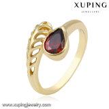 12615 Diamant-Schlange-Ring der Form-14k Gold überzogener in der Metalllegierung