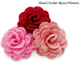Цветок вязания крючком руки, вспомогательное оборудование вязания крючком, приукрашивание вязания крючком
