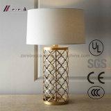Unión Latón Antiguo Carving Lámpara de mesa para dormitorios