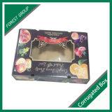 Caja de papel de embalaje de la fruta con la tapa transparente