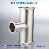 Articulações 304 de aço inoxidável de 3 vias de aperto de tubos