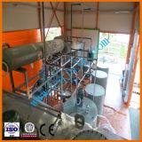 Verwendete Bewegungsmotoröl-Abfall-Schwarz-Öl Re-Raffinierung Destillation-Maschine