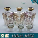 Bouteille en or de 150 ml avec couvercle en cristal pour parfum en vrac