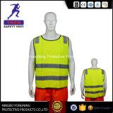 Het nieuwe Vest Van uitstekende kwaliteit van de Veiligheid van de Polyester van 100% Weerspiegelende met Ritssluiting