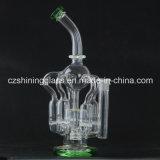 Eindeutiges Entwurfs-Recycler-Glaswasser-Pfeife mit Honig-Kamm-Einfassung